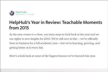 HelpHub year in review 2015